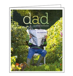 Woodmansterne Framed in the garden dad birthday card Nickery Nook
