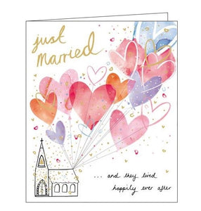Woodmansterne Happily Ever After Congratulations on your Wedding Charlotte Mason card Nickery Nook