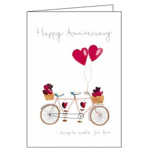 Woodmansterne Happy Anniversary bicycle made for two card Nickery Nook