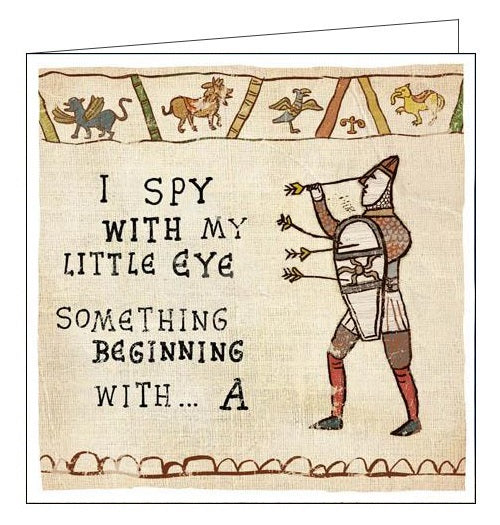 Woodmansterne Hysterical Heritage i spy with my little eye Blank humour card Nickery Nook