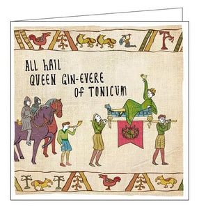 Woodmansterne Hysterical Heritage queen gin-evere of tonicum Blank humour card Nickery Nook