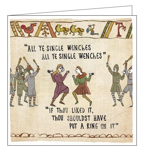 Woodmansterne Hysterical Heritage single wenches if thou liked it Blank humour card Nickery Nook