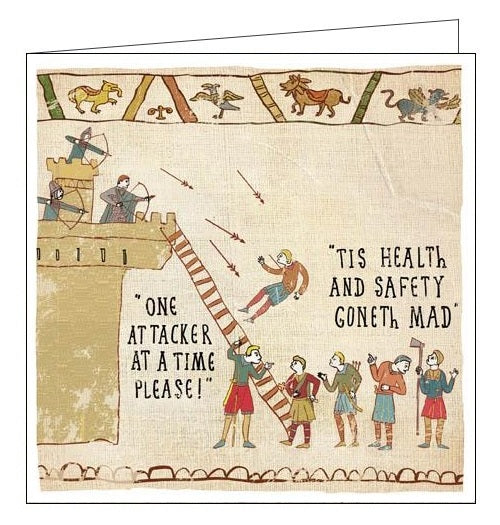 Woodmansterne Hysterical Heritage tis health and safety goneth mad Blank humour card Nickery Nook