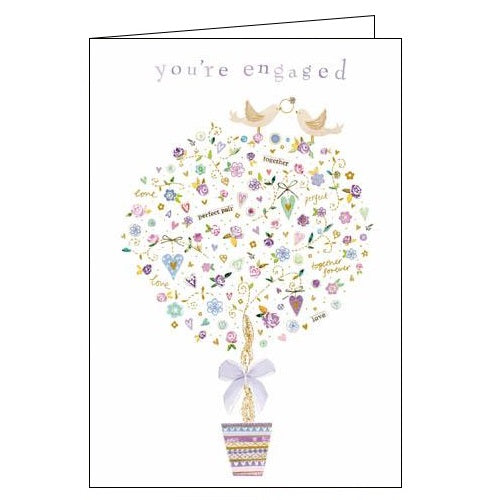 Woodmansterne Kim Anderson engaged engagement card Nickery Nook