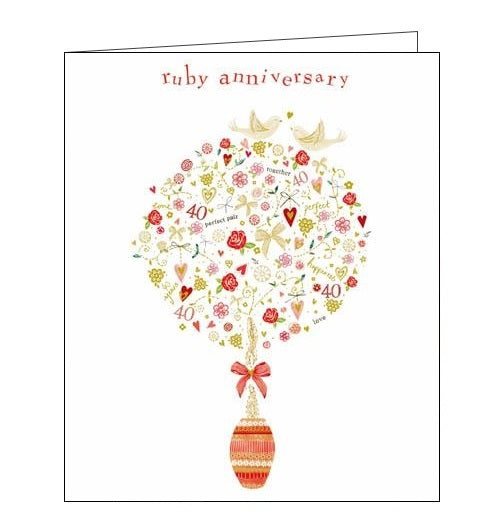 Woodmansterne Kim Anderson ruby anniversary card Nickery Nook