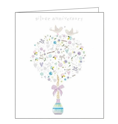 Woodmansterne Kim Anderson silver anniversary card Nickery Nook