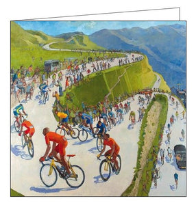 Woodmansterne King of the Hill cycling Happy Birthday card Nickery Nook