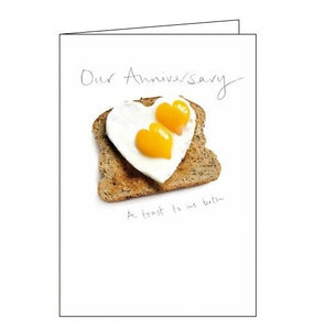 Woodmansterne Kiss Our Anniversary card Nickery Nook