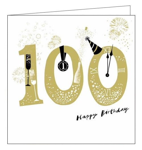 Woodmansterne Lisa Hunt Big Bang Happy 100th birthday card Nickery Nook