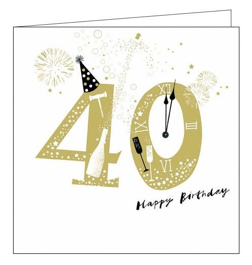 Woodmansterne Lisa Hunt Rollicking Happy 40 birthday card Nickery Nook