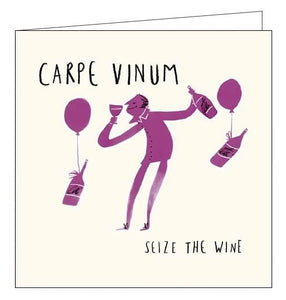 Woodmansterne Livin It wine Carpe Vinium happy birthday card funny humour Nickery Nook