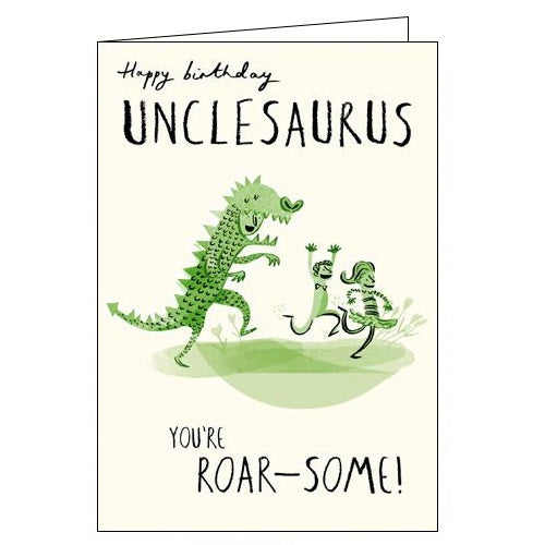 Woodmansterne Livin it unclesaurus uncle birthday card Nickery Nook