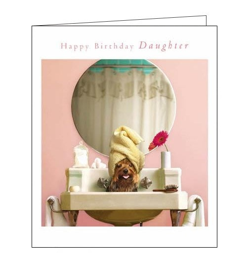 Woodmansterne Loose Leashes pampered pooch daughter birthday card Nickery Nook