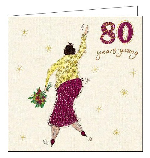 Woodmansterne Louise Gardiner 80 today Happy 80th birthday card Nickery Nook