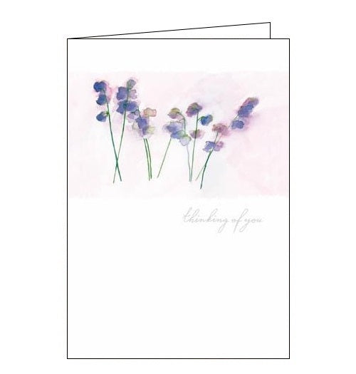 Woodmansterne Michael Clark Sweet Peas thinking of you card Nickery Nook