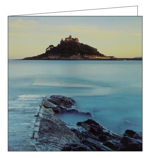 Woodmansterne National Trust St Michaels Mount seaside blank card Nickery Nook