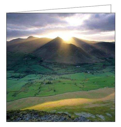 Woodmansterne National Trust catbells lake district fells dog blank card Nickery Nook