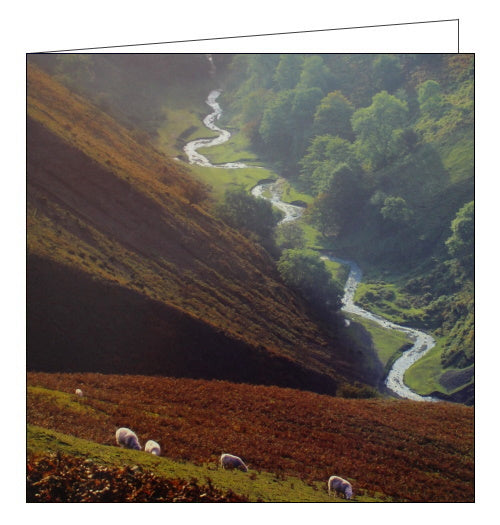 Woodmansterne National Trust long mynd shropshire blank card Nickery Nook
