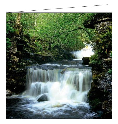 Woodmansterne National Trust upper wharfedale waterfall blank card Nickery Nook