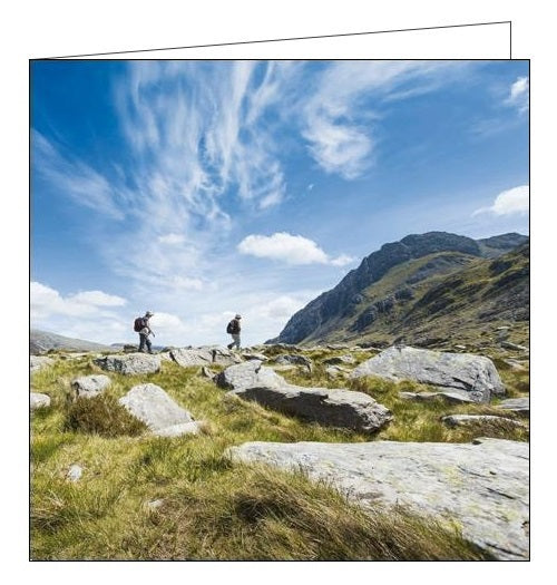 Woodmansterne National Trust wales cwn idwal hiking blank card Nickery Nook