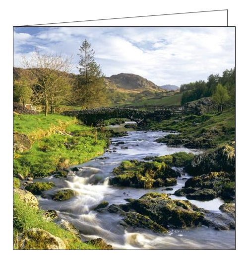 Woodmansterne National Trust watendlath beck cumbria blank card Nickery Nook