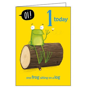 Woodmansterne Oi frog 1st Birthday card Nickery Nook