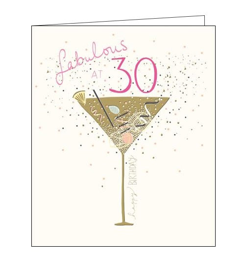 Woodmansterne Peach and Prosecco 30 today 30th Birthday card Nickery Nook