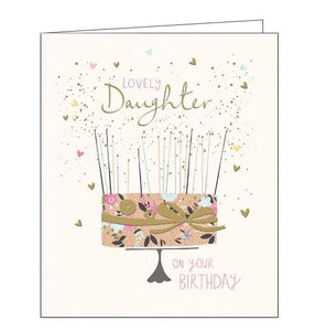 Woodmansterne Peach and Prosecco Lovely Daughter Birthday card Nickery Nook