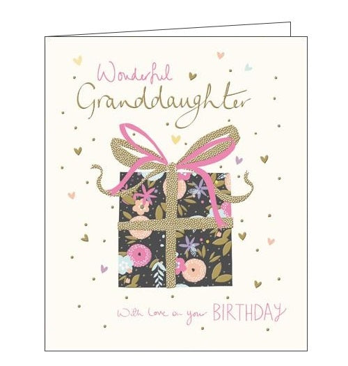 Woodmansterne Peach and Prosecco Wonderful Granddaughter Happy Birthday card Nickery Nook