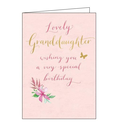 Woodmansterne Peppermint Charlotte Mason birthday card for granddaughter flowers butterflies Nickery Nook