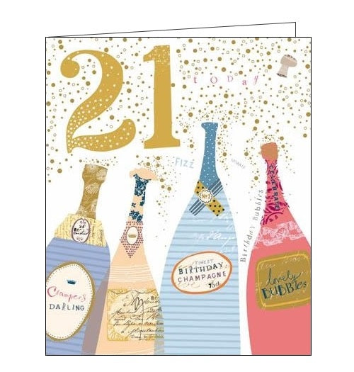 Woodmansterne Pink Claire Hocking 21 today 21st Happy birthday card Nickery Nook