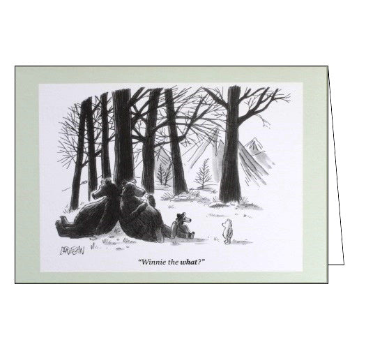 Woodmansterne Punch Magazine Donegan Winnie the What blank humour card Nickery Nook
