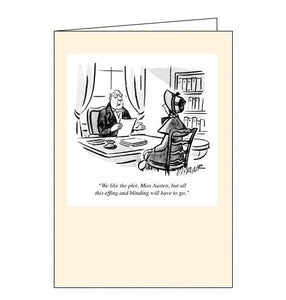 Woodmansterne Punch Miss Austen blank humour card Nickery Nook