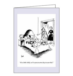 Woodmansterne Punch Sprod extra dog blank humour card Nickery Nook
