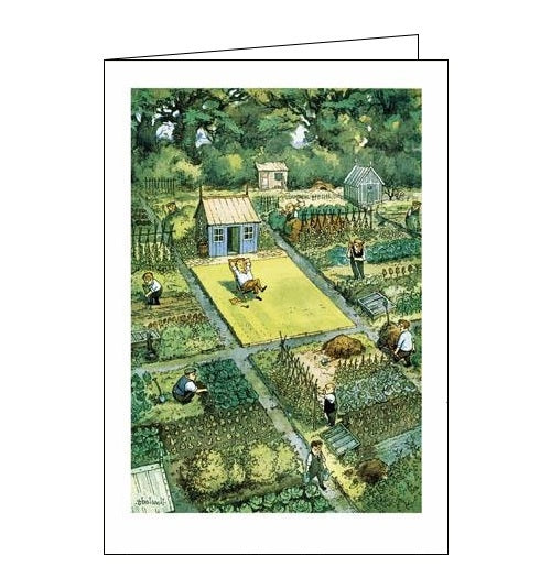 Woodmansterne Punch Thelwell Allotments blank humour card Nickery Nook