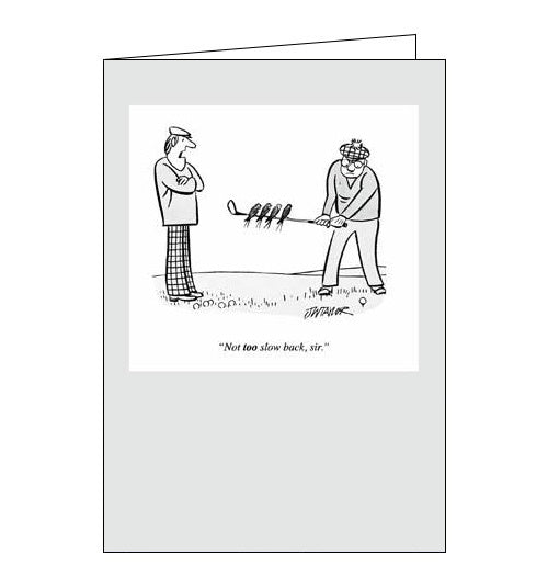 Woodmansterne Punch magazine taylor golf humour card Nickery Nook