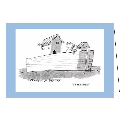 Woodmansterne Punch mike williams noahs ark blank humour card Nickery Nook