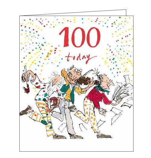 100 today - Quentin Blake Birthday card