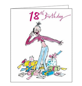 Woodmansterne Quentin Blake 18 today happy 18th birthday card for her phone Nickery Nook