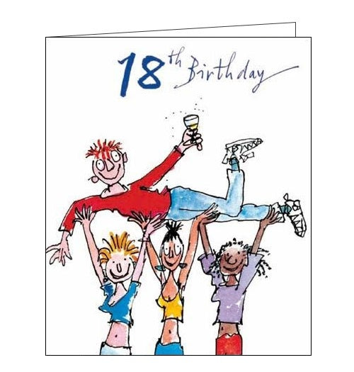 Woodmansterne Quentin Blake 18 today happy 18th birthday card for him bumps Nickery Nook
