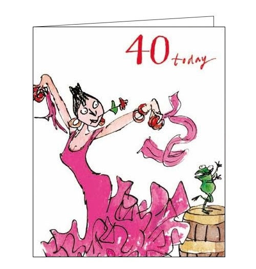 Woodmansterne Quentin Blake 40 today 40th birthday card Nickery Nook