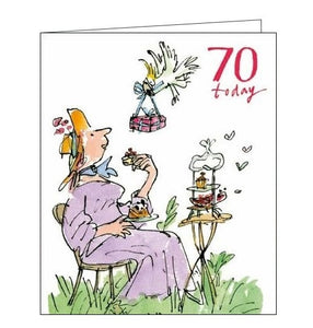 Woodmansterne Quentin Blake 70th birthday card for her Nickery Nook
