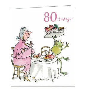 Woodmansterne Quentin Blake 80th birthday card for her Nickery Nook