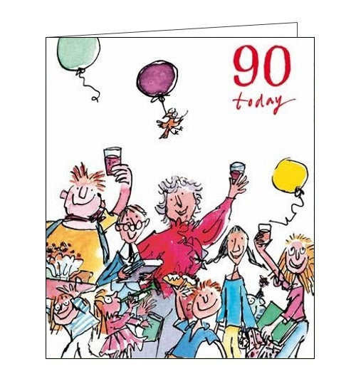 Woodmansterne Quentin Blake 90th birthday card Nickery Nook