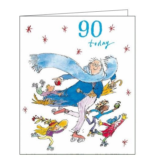Woodmansterne Quentin Blake 90th birthday card for him Nickery Nook