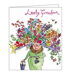 Woodmansterne Quentin Blake Fabulous Grandma Happy Birthday card Nickery Nook