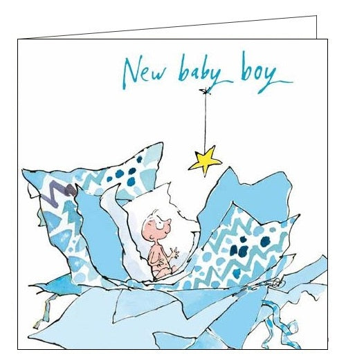 Woodmansterne Quentin Blake New baby boy card Nickery Nook