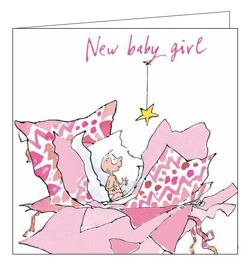 Woodmansterne Quentin Blake New baby girl card Nickery Nook