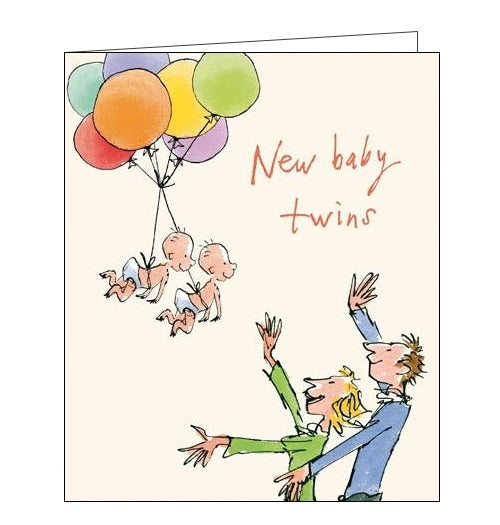 Woodmansterne Quentin Blake New baby twins Nickery Nook