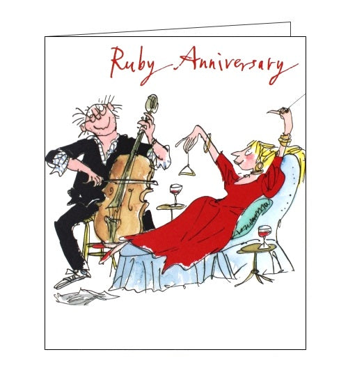 Woodmansterne Quentin Blake Ruby 40th anniversary card Nickery Nook